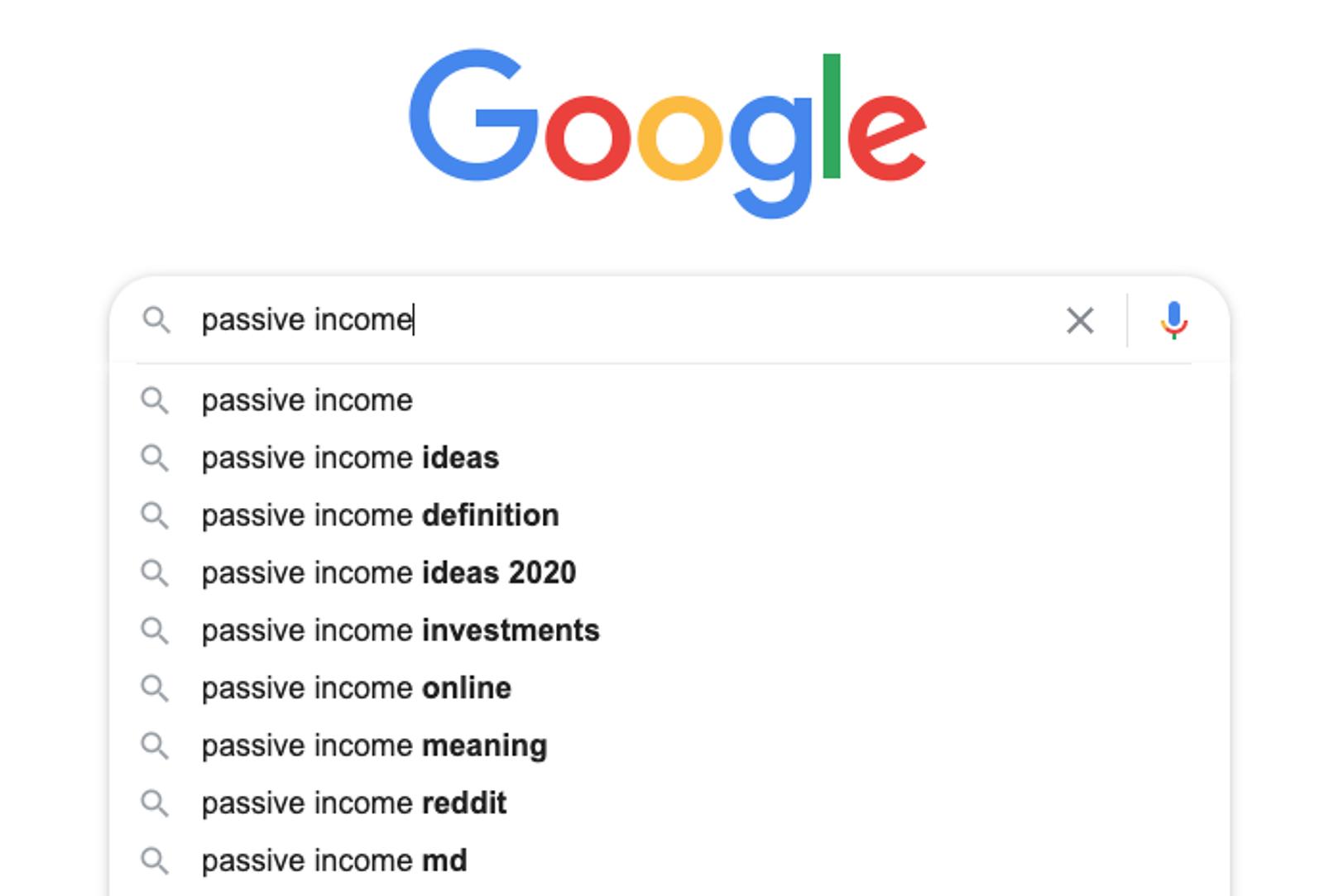 Google search predictions