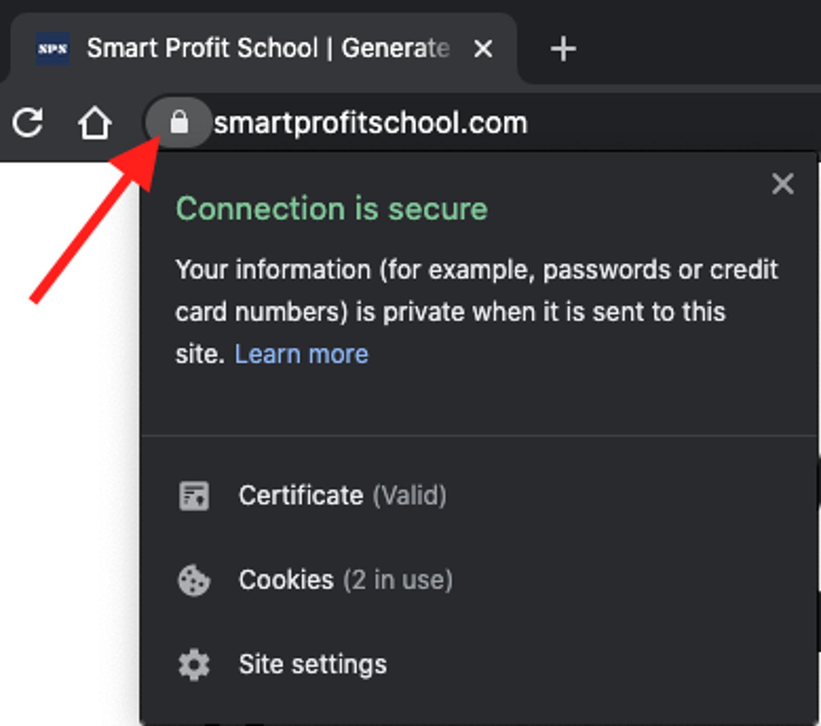 HTTPS in Chrome