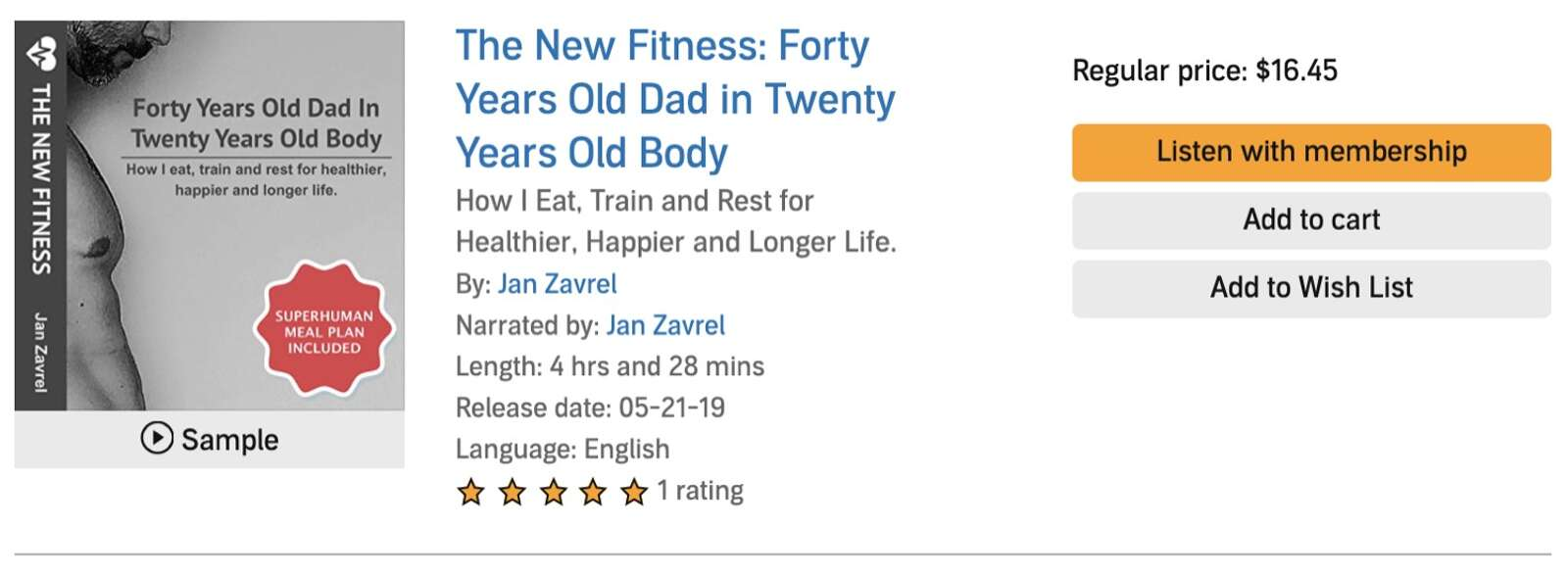 The New Fitness Audiobook